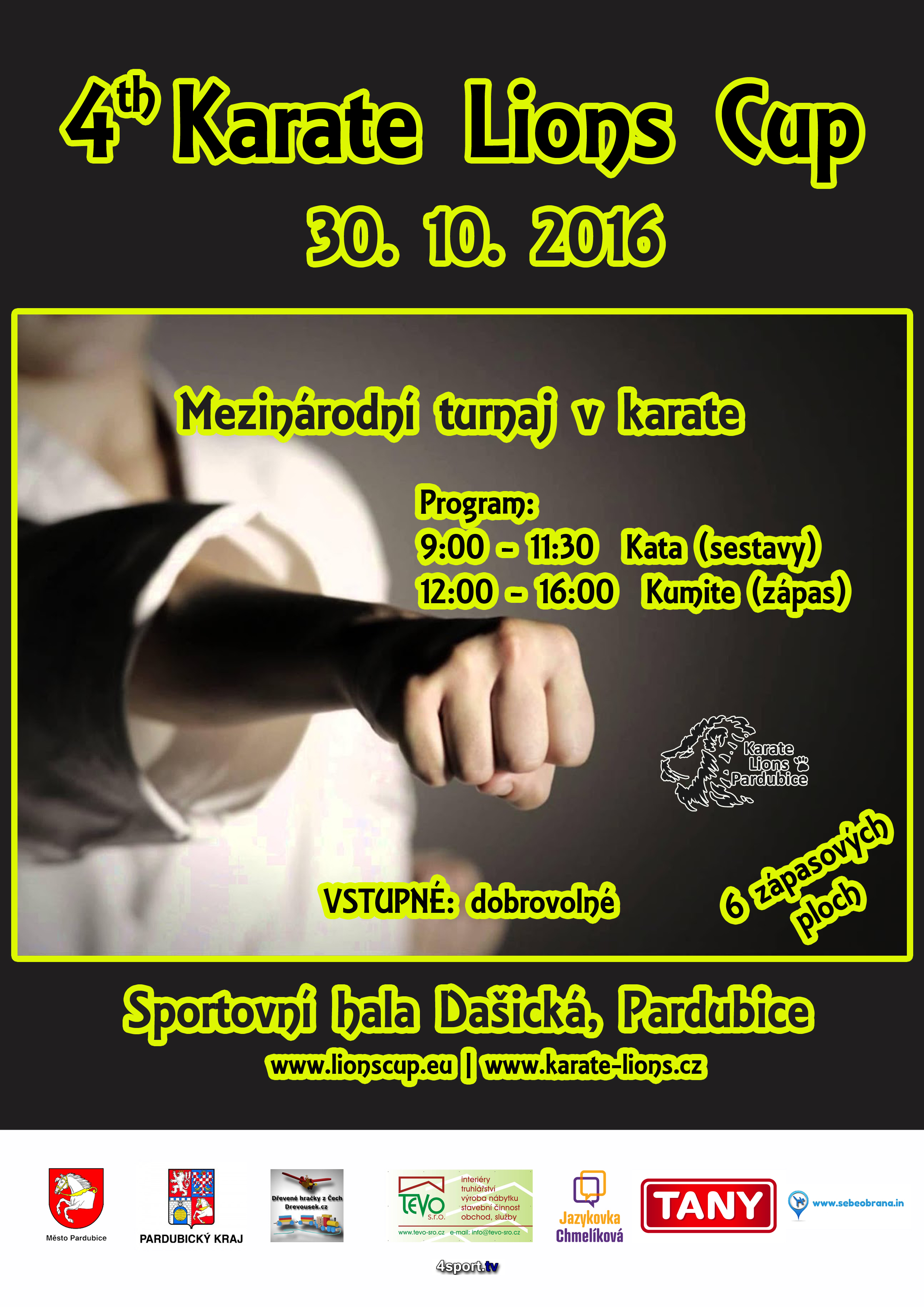 4th Karate Lions Cup 2016